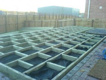 Diy fencing and decking decking kits for Garden decking fencing
